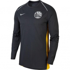 Nike NBA Golden State Warriors Hyper Elite Long-Sleeve Top - Black Pine/ Amarillo/ Black