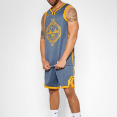 Nike NBA Golden State Warriors Kevin Durrant City Edition Connected Jersey - Monsoon Blue
