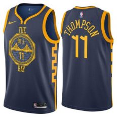 Nike NBA Golden State Warriors Klay Thompson City Edition Swigman Jersey - Monsoon Blue