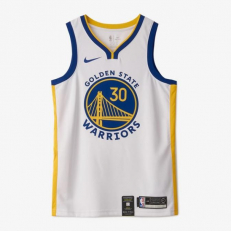 Nike NBA Golden State Warriors Stephen Curry Connected Swingman Jersey - White/ Amarillo/ Rush Blue