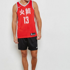 Nike NBA James Harden Houston Rockets Icon Edition Swingman Jersey - University Red