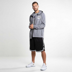 Nike NBA Los Angeles Lakers Dry Showtime Full-Zip Hoodie - Heather/ Black
