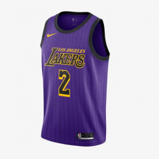 Nike NBA Los Angeles Lakers Lonzo Ball City Edition Swingman Jersey - Field Purple