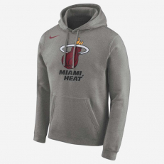 Nike NBA Miami Heat Logo Hoodie - Dark Grey Heather