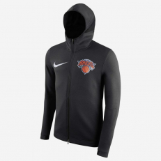 Nike NBA New York Knicks Therma Flex Showtime Full-Zip Hoodie - Black