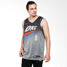 Nike NBA Oklahoma City Thunder Russell Westbrook City Edition Swingman Jersey - Dark Steel Grey