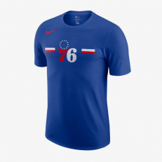 Nike NBA Philadelphia 76Ers Logo Dri-Fit T-Shirt - Rush Blue