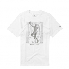 Nike NBA Stephen Curry Warriors MVP Dri-Fit T-Shirt - White