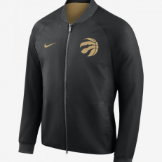Nike NBA Toronto Raptors City Edition Modern Varsity Jacket - Black/ Club Gold