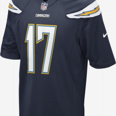 Nike NFL Los Angeles Chargers Philip Rivers Game Jersey - College Navy/ White