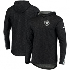 Nike NFL Oakland Riders Long-Sleeve Hooded T-shirt - Black Heather/ White