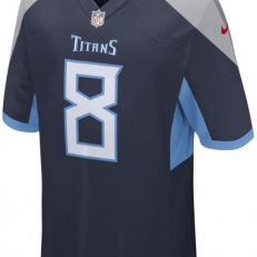 Nike NFL Tennessee Titans Marcus Mariota Game Jersey - College Navy/ Coast/ Wolf Grey