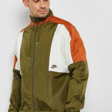 Nike Sportswear Re-Issue Woven Jacket - Olive Canvas/ Dark Russet/ Sail/ Olive Canvas