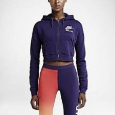Nike (Rare) Cropped Track & Field Full Zip Hoodie