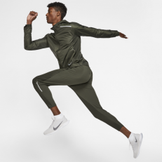 Nike Repel Hooded Running Jacket - Sequoia/ Reflective Silver