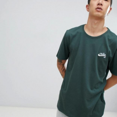 Nike SB Small Logo Dri-Fit T-Shirt - Midnight Green/ Royal Tint