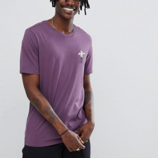 Nike SB T-Shirt Whit Pelican Back Print - Purple