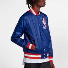 Nike SB X NBA Icon Satin Bomber Jacket - Rush Blue/Brilliant Orange