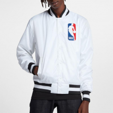 Nike SB X NBA Icon Satin Bomber Jacket - White/Black