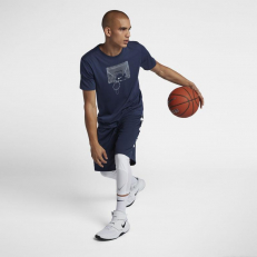 Nike Shatter Print Dri-Fit T-Shirt - Midnight Navy