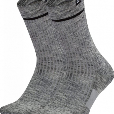 Nike Sneaker Sox Essential Crew 2 Pair - Wolf Grey/ Black/ White