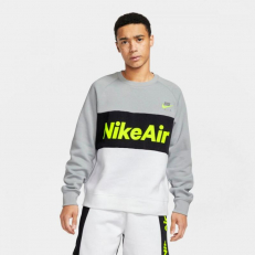 Nike Sportswear Air Crew Fleece Sweatshirt - Smoke Grey/ White