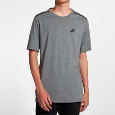 Nike Sportswear Bonded Tee - Carbon Heather/ Black