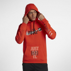 Nike Sportswear Club Fleece Hoodie JDI Print - Team Orange