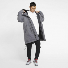 Nike Sportswear Down-Fill Hooded Parka - Dark Grey/ Anthracite/ Black
