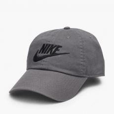Nike Sportswear Futura Washed H86 Cap - Dark Grey/ Black