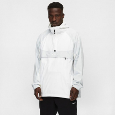 Nike Sportswear Hooded Woven Jacket - White/ Pure Platinum/ Sail/ White
