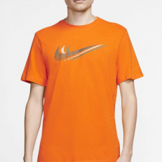Nike Sportswear Layered Swoosh T-Shirt - Orange