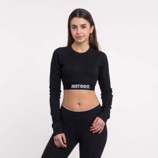 Nike Sportswear Long-Sleeve Crop Top - Black