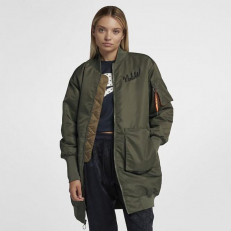 Nike Sportswear MA-1 Insulated Parka - Olive Canvas/ Camper Green/ Cone/ Black