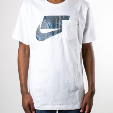 Nike Sportswear NSW 3 Pocket T- Shirt - White/ Dark Grey