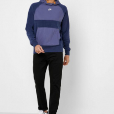Nike Sportswear Pullover Hoodie - Sanded Purple/ Midnight Navy/ Kumquat/ White