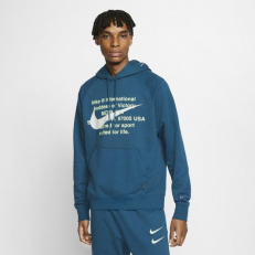 Nike Sportswear Swoosh French Terry Pullover Hoodie - Blue Force/ White