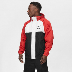 Nike Sportswear Swoosh Hoodie Jacket - University Red/ White/ Black/ Black