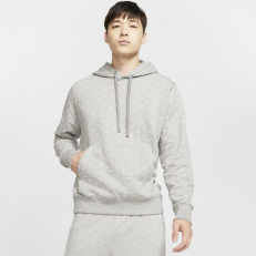 Nike Sportswear Swoosh Pullover Hoodie - Dark Grey Heather/ White