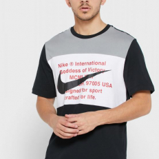 Nike Sportswear Swoosh T-Shirt - Black/ Particle Grey/ White
