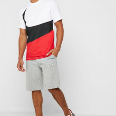 Nike Sportswear Swoosh T-Shirt - White/ University Red/ Black