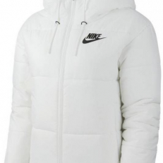 Nike Sportswear Synthetic-Fill Hooded Jacket - White/ Black