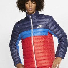 Nike Sportswear Synthetic Fill Puffer Jacket - Sanded Purple/ Habanero Red/ Sail
