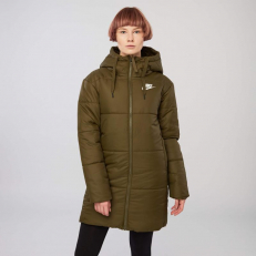 Nike Sportswear Synthetic Fill Reversible Parka Jacket - Olive Canvas/ White