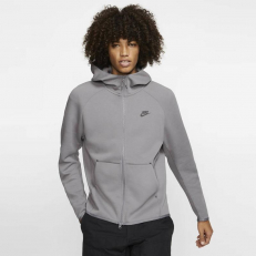 Nike Sportswear Tech-Fleece Full-Zip Hoodie - Gunsmoke/ Black