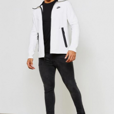 Nike Sportswear Tech Fleece Full-Zip Hoodie - Summit White/ Black