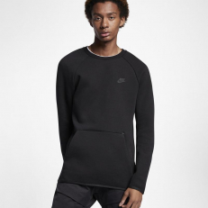 Nike Sportswear Tech-Fleece Long-Sleeve Crew - Black