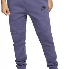 Nike Sportswear Tech Fleece Trousers (Older Kids) - Sanded Purple/ Black