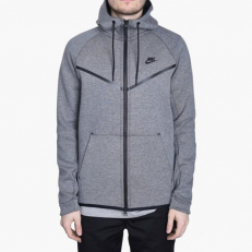 Nike Sportswear Tech Fleece Windrunner Full-Zip Hoodie - Carbon/Heather/Black
