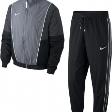 Nike Sportswear Throwback Tracksuit - Balck/White/Grey